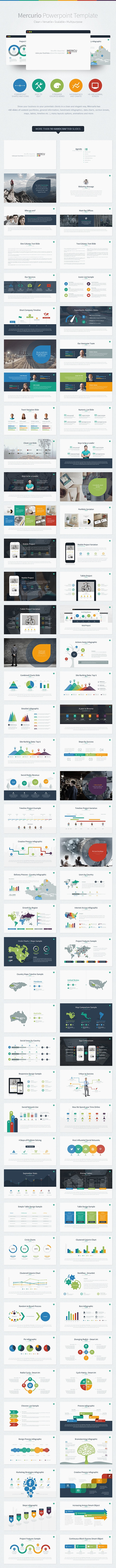 Mercurio PowerPoint Presentation Template - PowerPoint Templates Presentation Templates