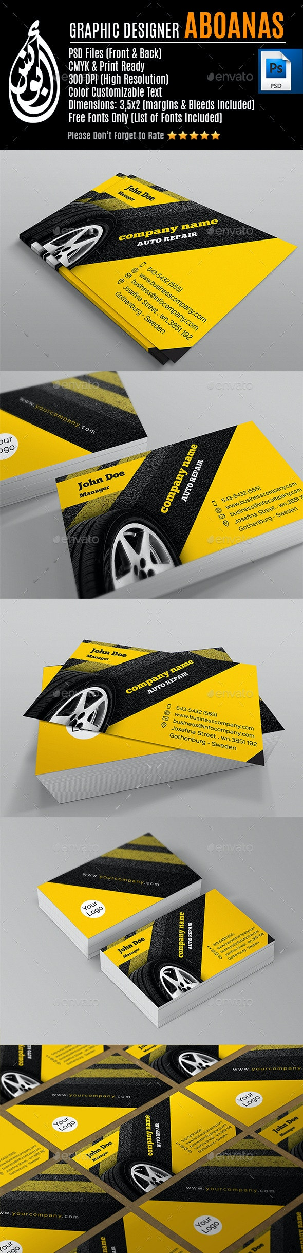 Business Card Template_AA12 - Industry Specific Business Cards