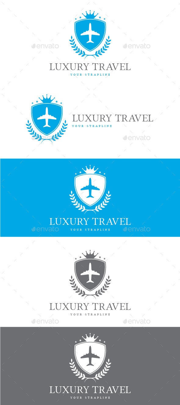 Luxury Travel Logo - Crests Logo Templates