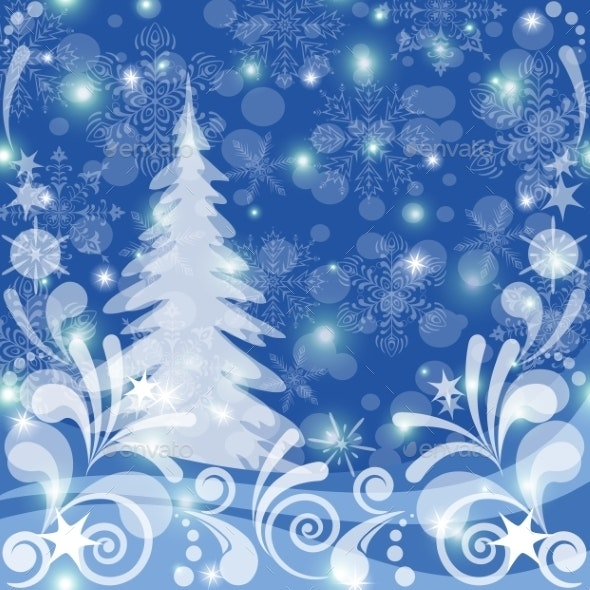 Christmas Background, Winter Forest - Christmas Seasons/Holidays