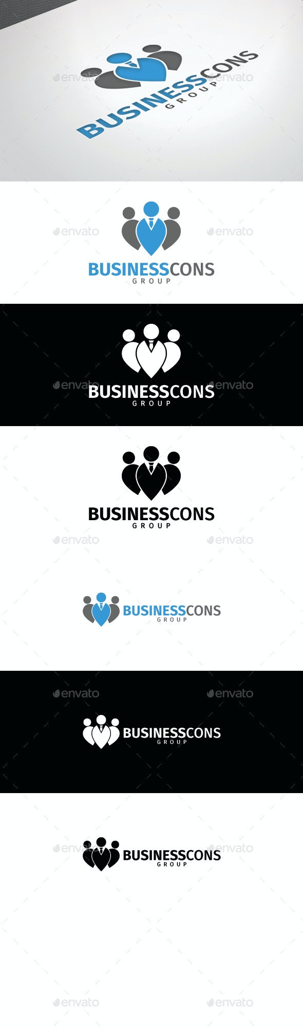 Business Cons Group Logo Template - Logo Templates