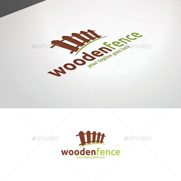 Wooden Fence Logo Template
