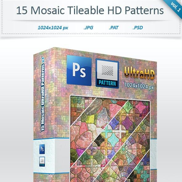 Mosaic Tileable Patterns (vol 1)