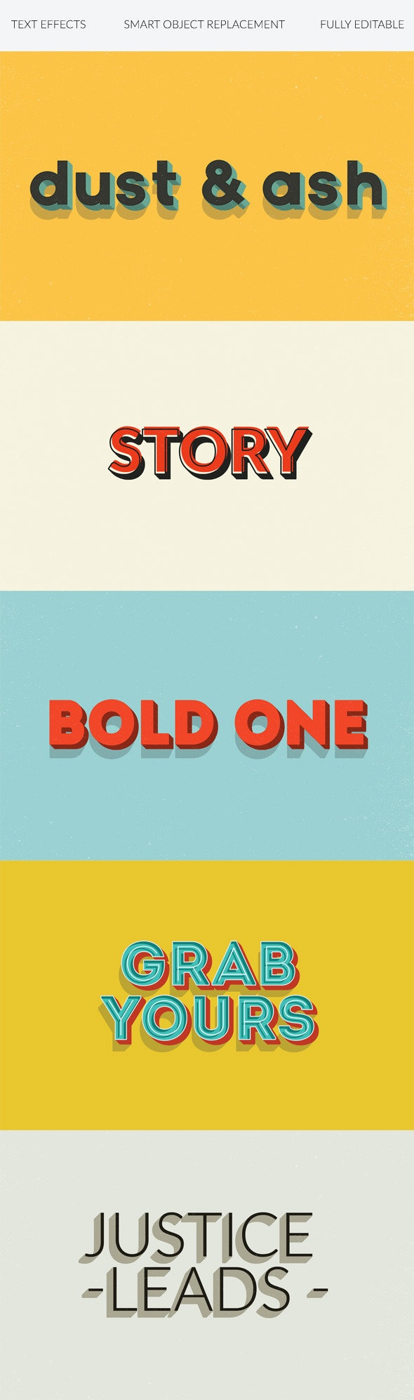 Text Effects | Vintage | 3D | Retro vol. 3 - Text Effects Actions
