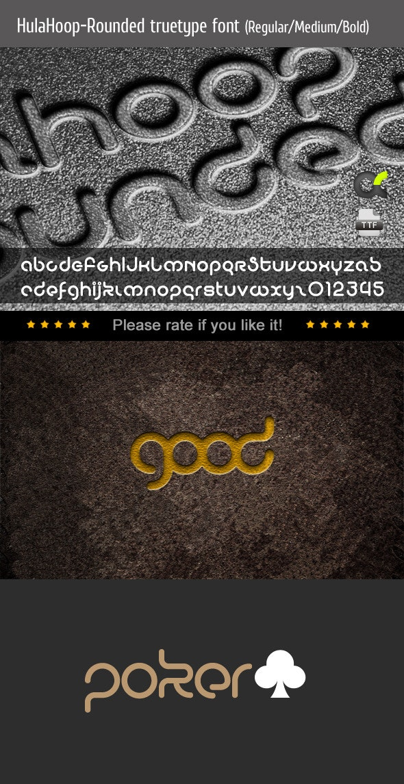 HulaHoop-Rounded TrueType Font - Sans-Serif Fonts