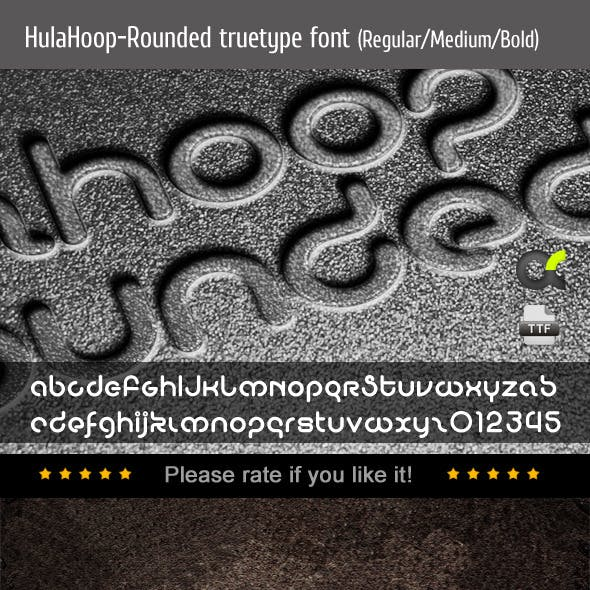 HulaHoop-Rounded TrueType Font