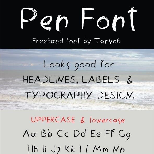 Penfont - freehand font