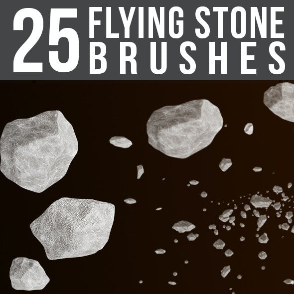 25 Flying Stone Brushes