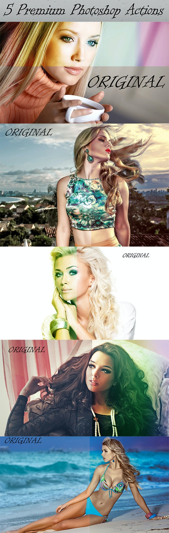 5 Premium Photoshop Actions - Add-ons
