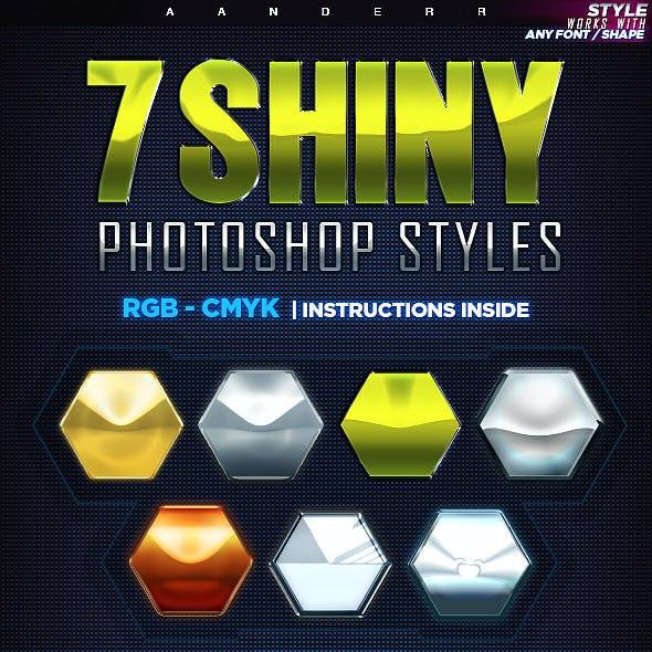 7 Shiny Photoshop Styles