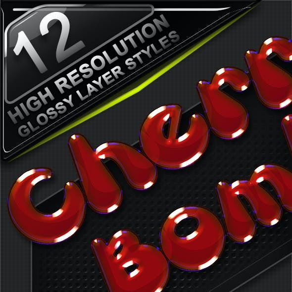 12 Glossy Layer Styles