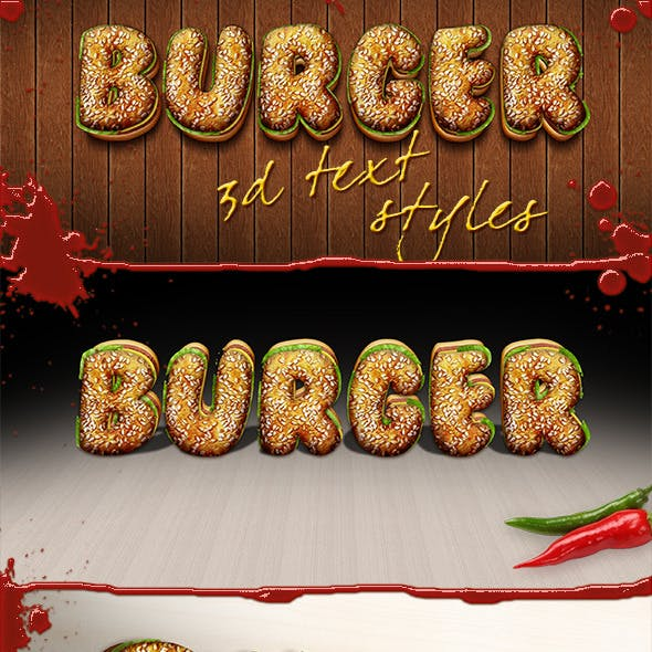 3D Burger Styles
