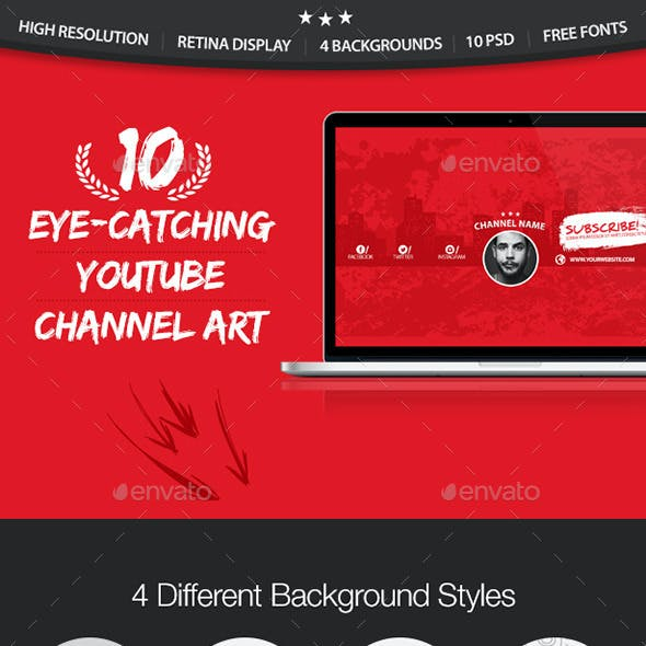 YouTube Graphics, Designs & Templates from GraphicRiver