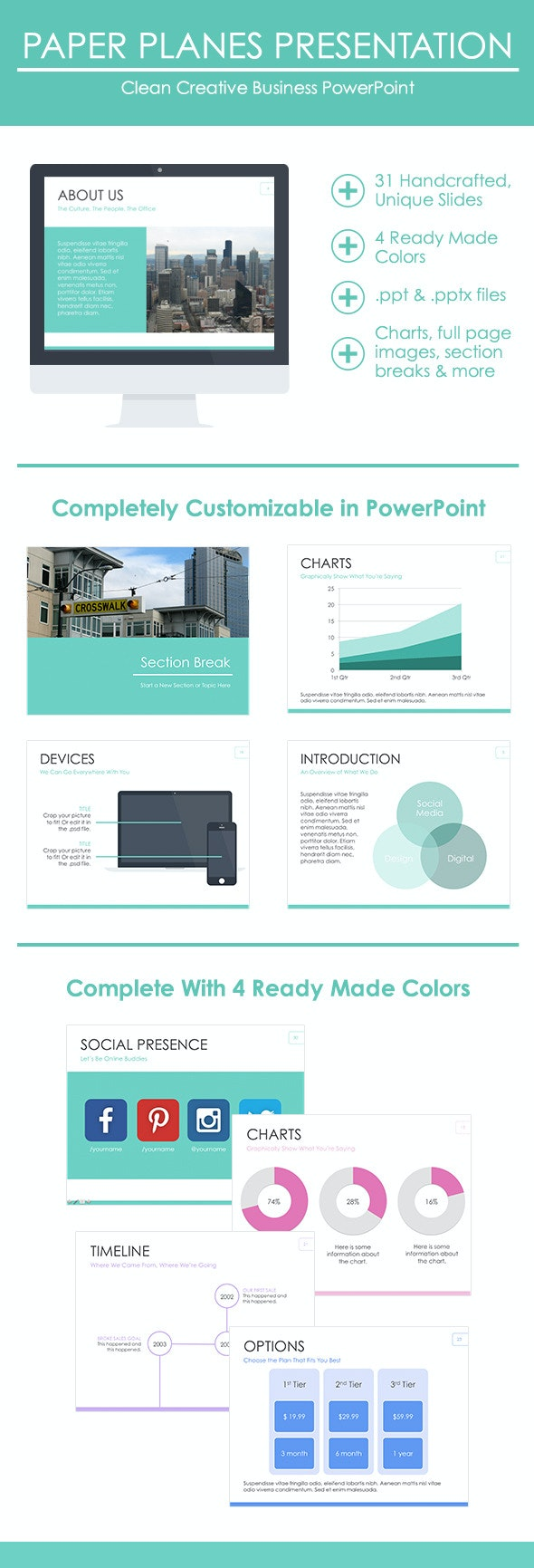 Clean Creative Business Presentation - Business PowerPoint Templates
