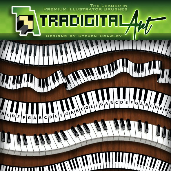 Piano Keys Pattern Brush Set +