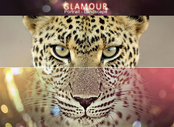 Vivid Glamour Action Set - Photo Effects Actions