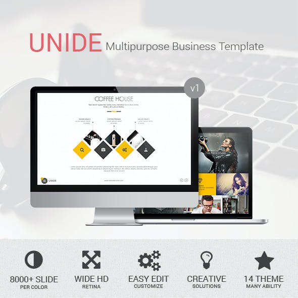 UNIDE - Powerpoint Presentation Template