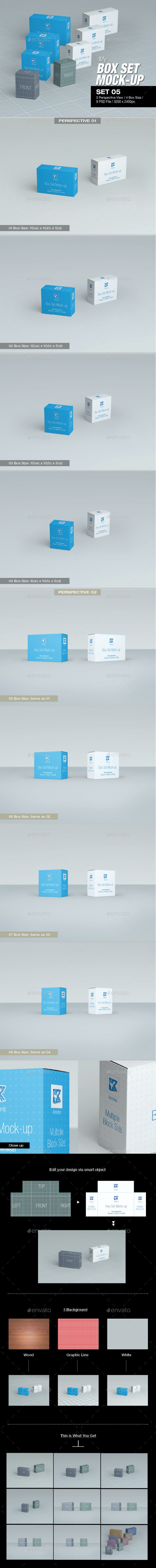 MyBox Set Mock-up 05 - Packaging Product Mock-Ups