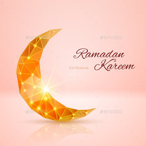 Greeting Card of Month Ramadan