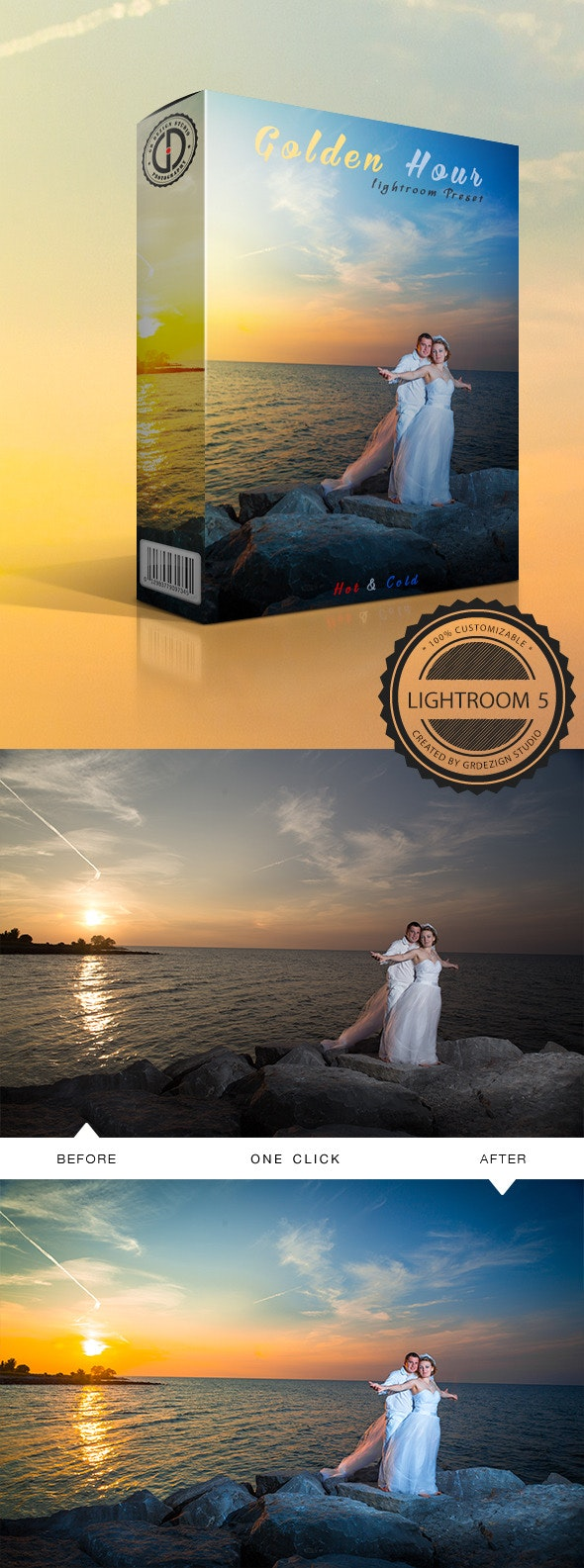 Golden Hour (Hot&Cold) Lightroom Preset - Wedding Lightroom Presets
