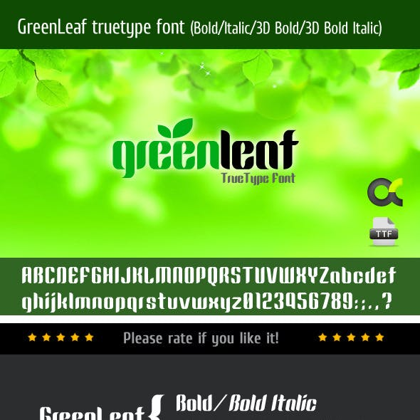 Green Fonts from GraphicRiver
