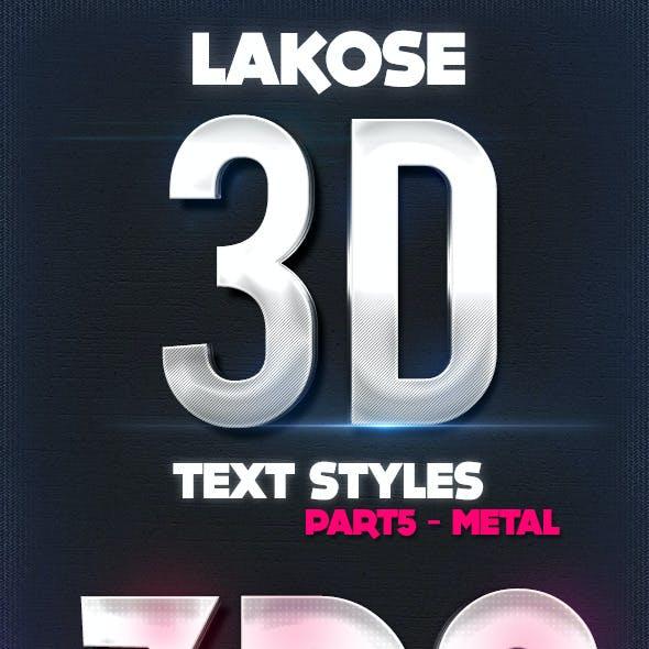 Lakose 3D Text Styles Part 5