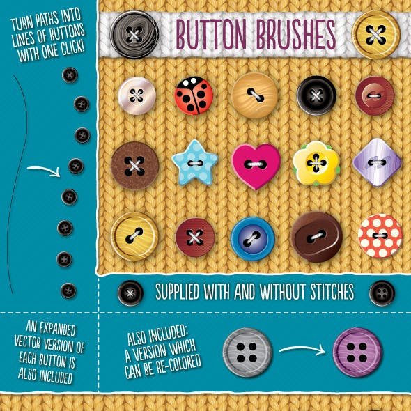 Button Brushes
