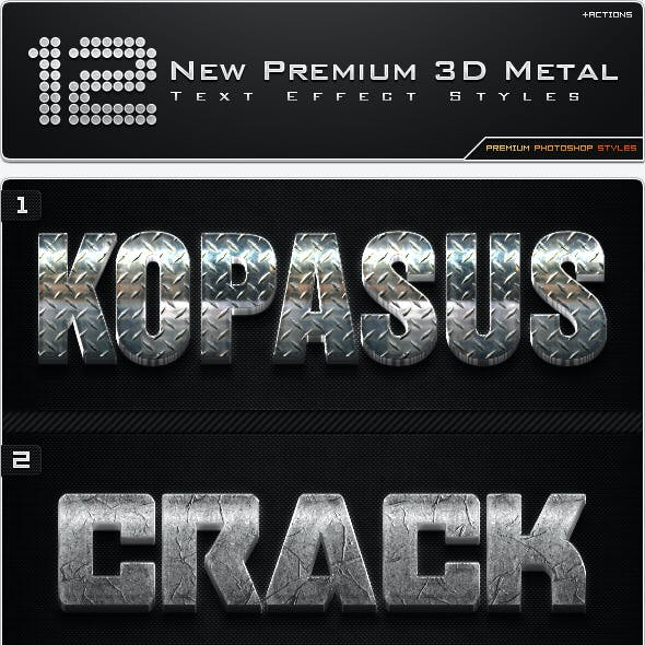 12 New Premium 3D Metal Styles + Actions