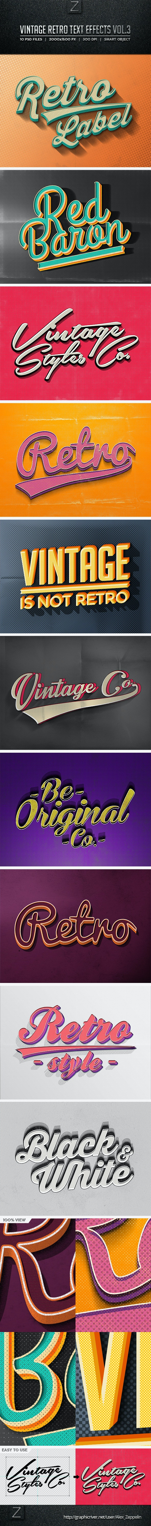 Vintage Text Effects Vol.3 - Text Effects Styles