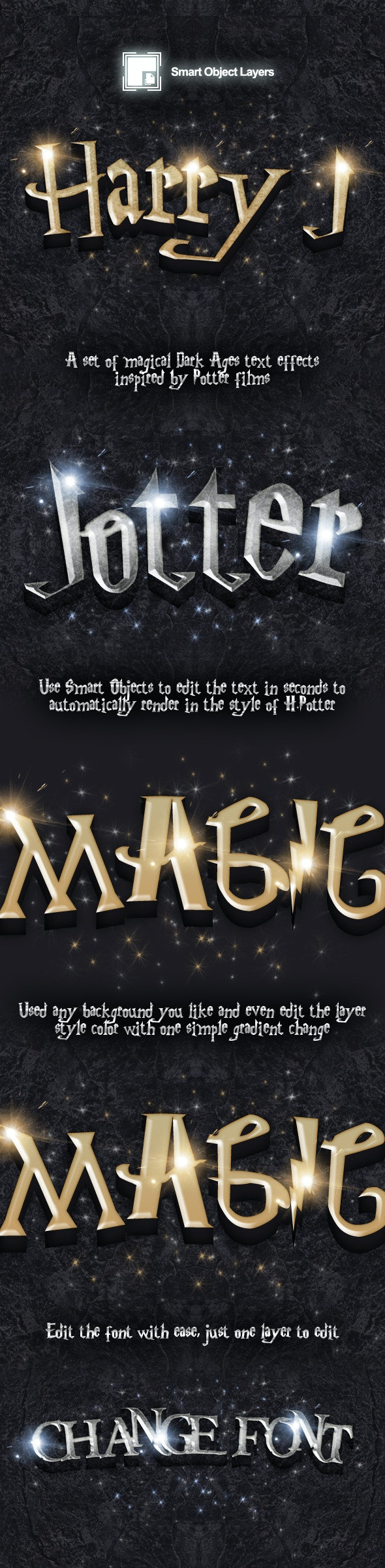 Potter Movie Style Editable Text Effect - Text Effects Styles