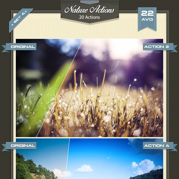 Nature Photoshop Actions Set 4