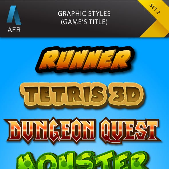 AFR Graphic Styles Set 2