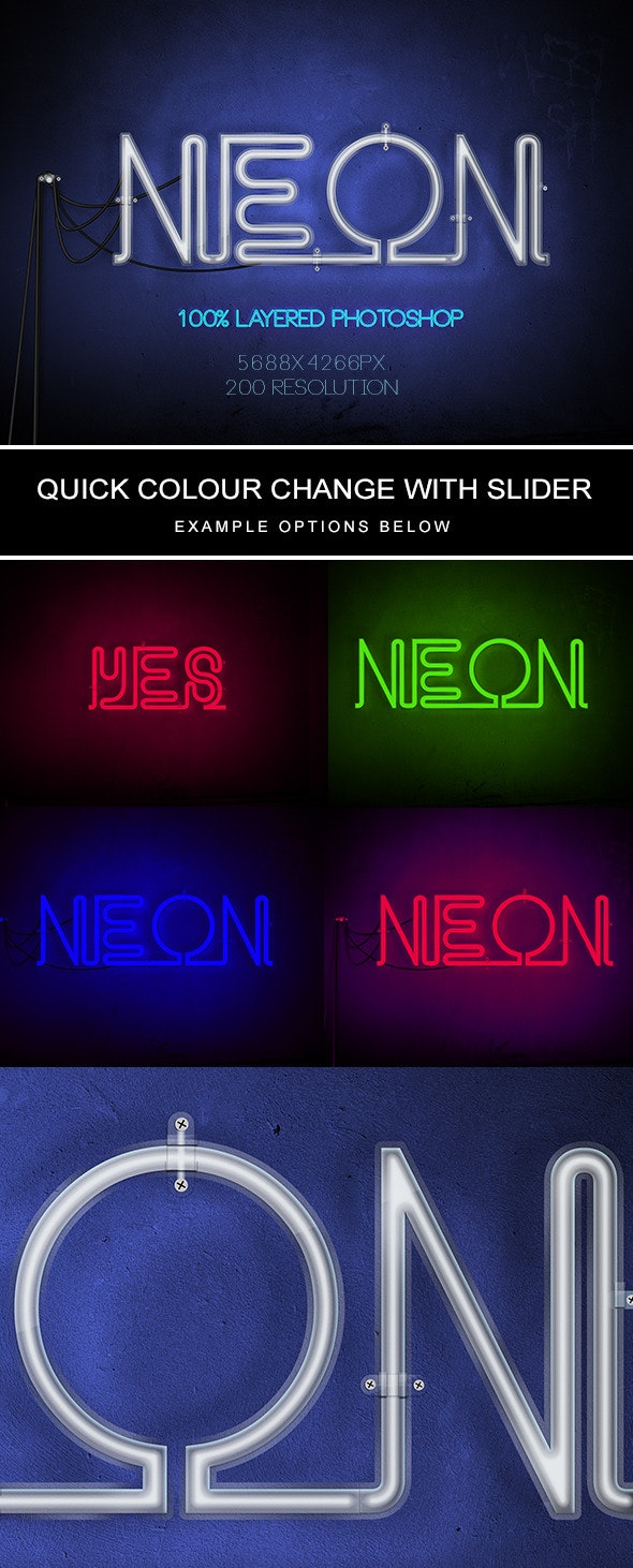 Neon Text - Photoshop Add-ons