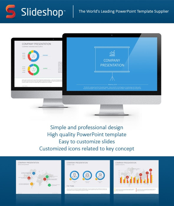 Company Presentation Flat - Creative PowerPoint Templates