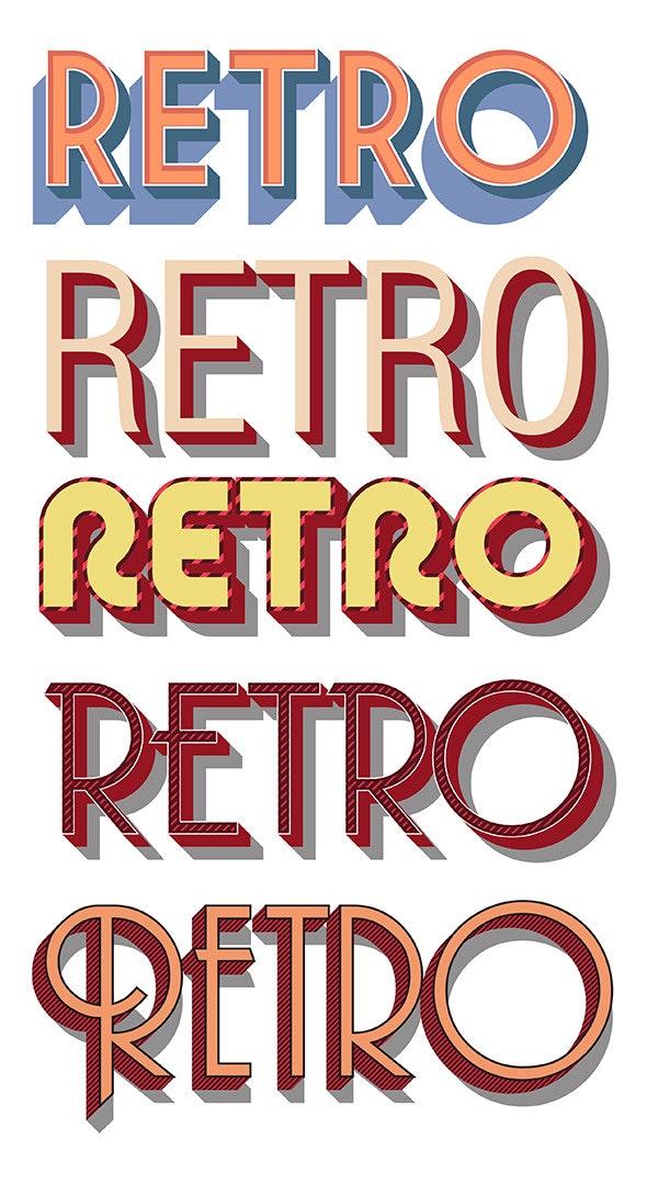 Retro Vector Graphic Styles - Styles Illustrator