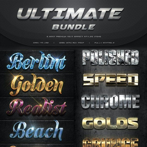 Ultimate Premium Text Effect Styles Bundle