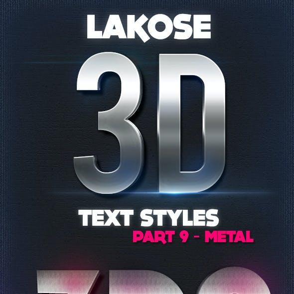 Lakose 3D Text Styles Part 9