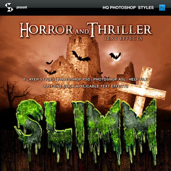Horror and Thriller Text Effects