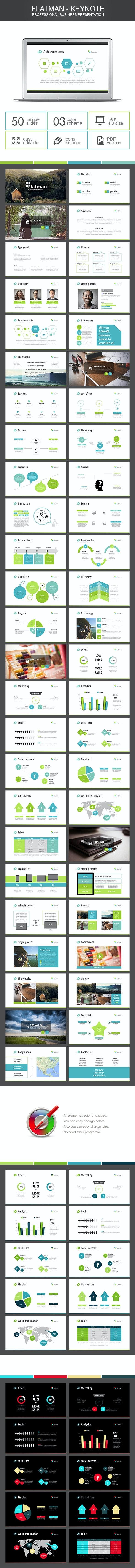 Flatman - Keynote - Business Keynote Templates