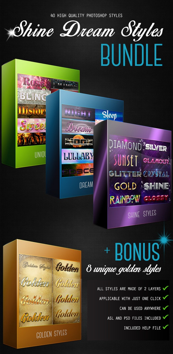 Shine Dream Styles - Text Effects Styles