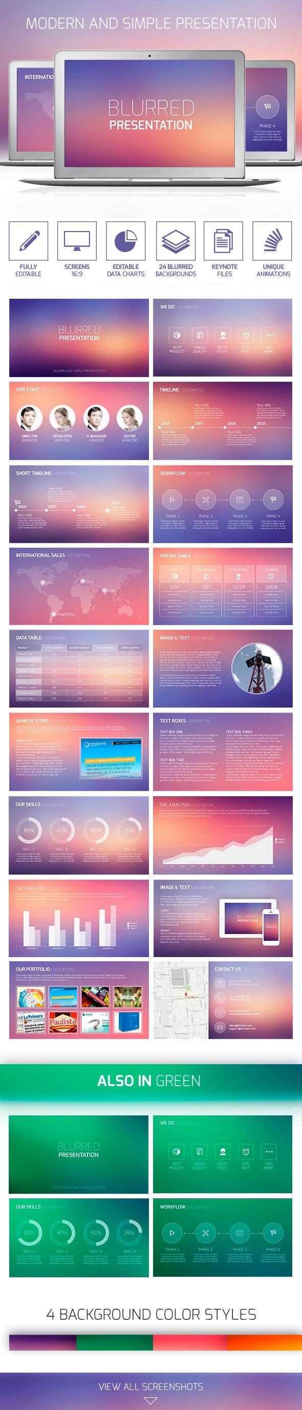 Blurred Presentation - Keynote Templates Presentation Templates