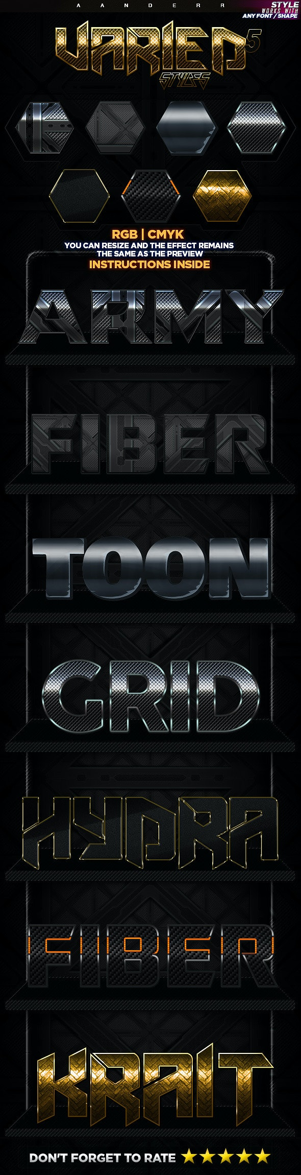 Varied Styles 5 - Text Effects Styles