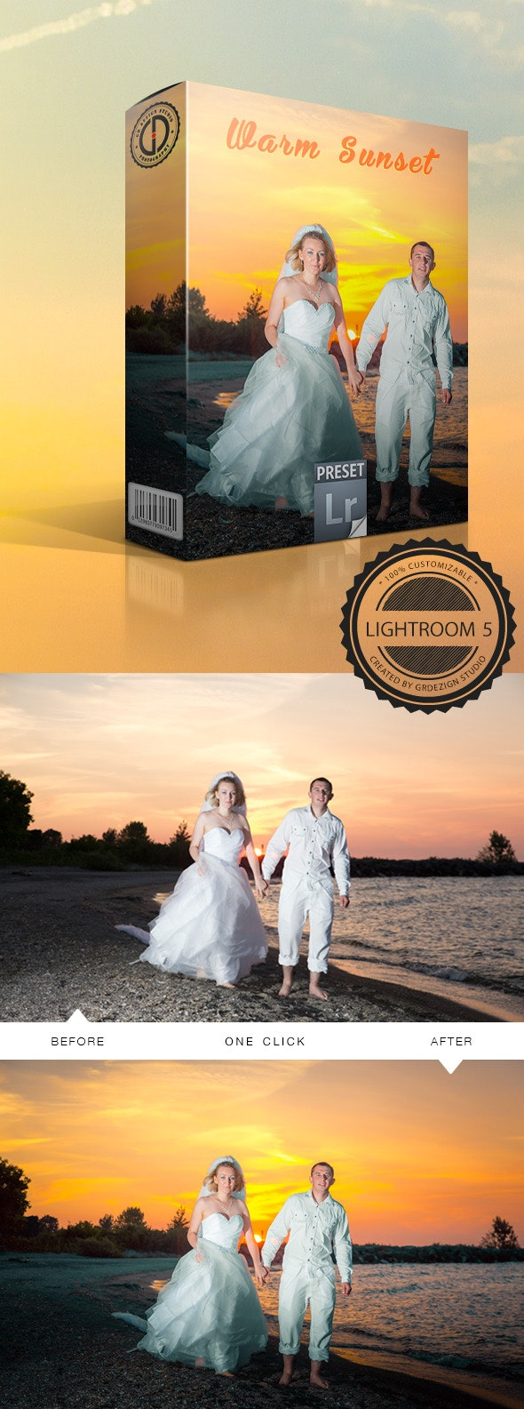 Warm Sunset - Wedding Lightroom Presets