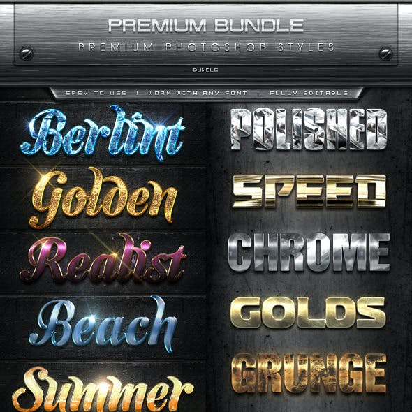 Premium Text Effects Styles Bundle