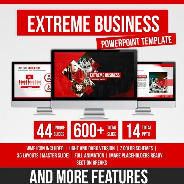 Extreme Bussiness PowerPoint Template