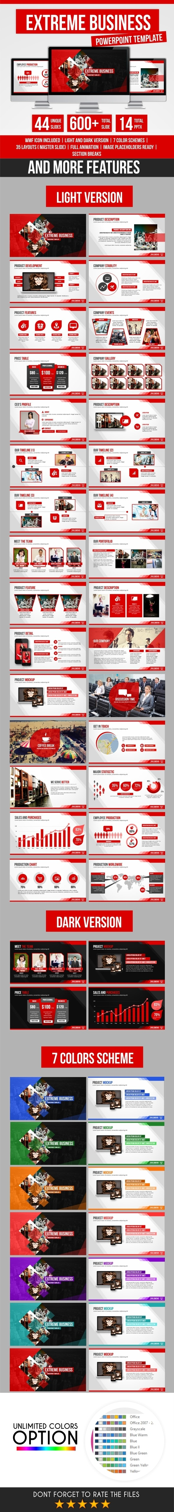Extreme Bussiness PowerPoint Template - Business PowerPoint Templates