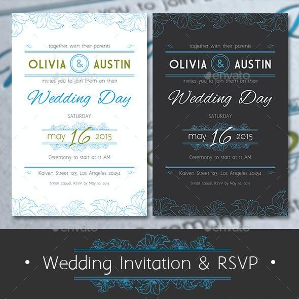 Vintage Wedding Invitation & RSVP