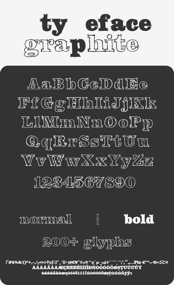 Graphite Typeface - Condensed Serif
