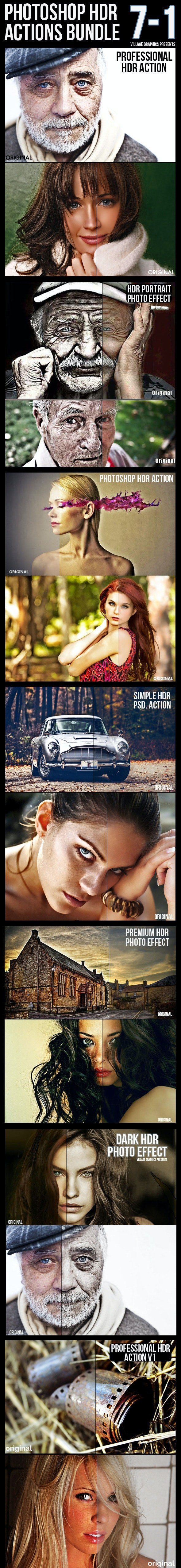 7-1 HDR Actions Bundle - Photo Effects Actions