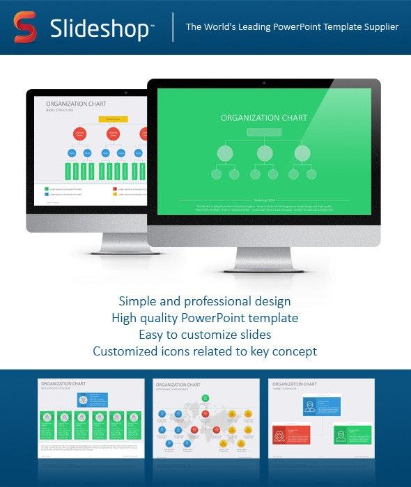 Organizational Chart Flat - Creative PowerPoint Templates